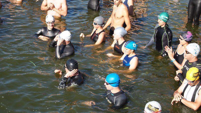 Înainte de start, la Half Ironman Oradea 2012, lacul Paleu