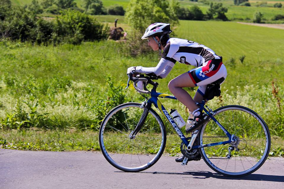 Alina la Oradea, la proba de ciclism - 180 de km