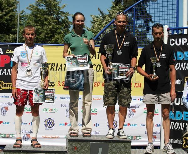 Alina Ursu, pe podium la Ironman Oradea, prima femeie din Romania care finalizeaza aceasta cursa extrema