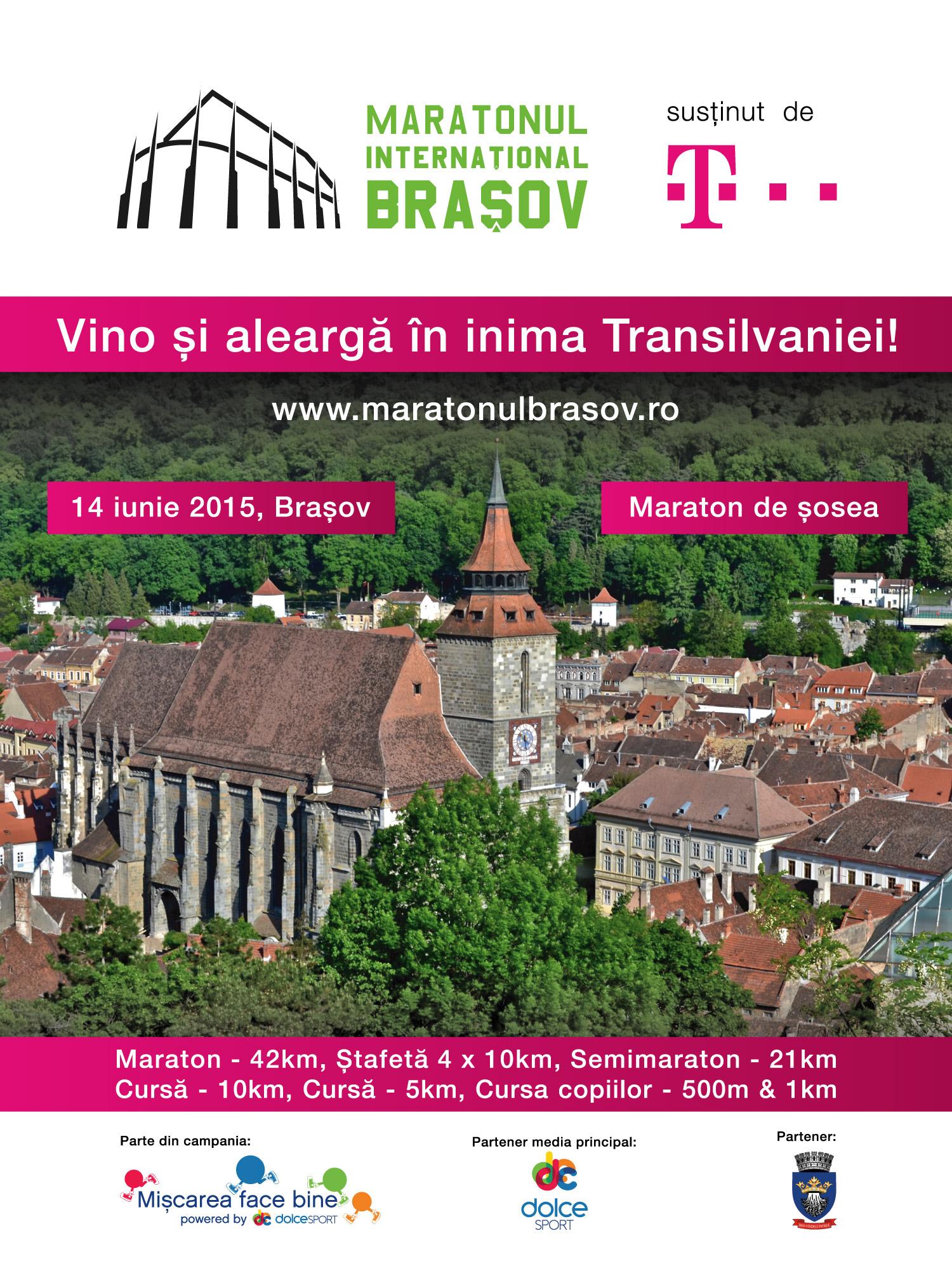Premieră: Maratonul Internaţional Braşov, alergare pe șosea, în inima Transilvaniei!