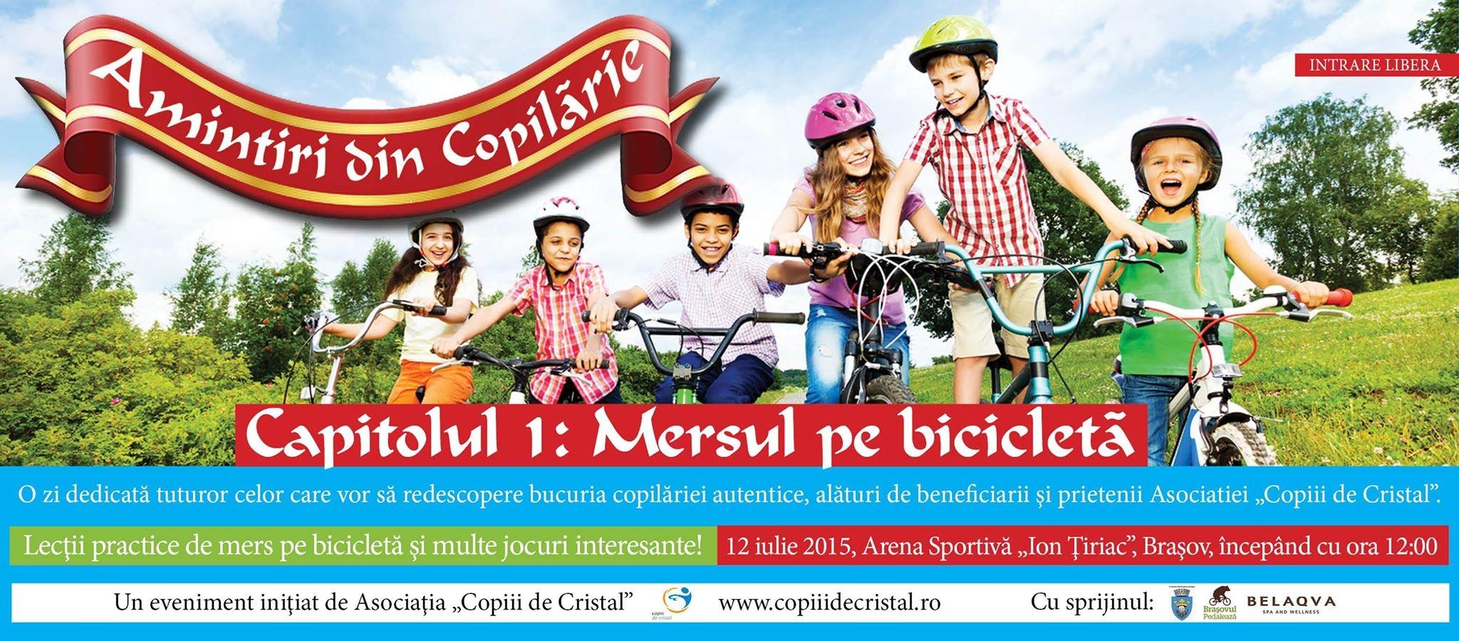 """Învată să mergi pe bicicletă la Brașov, alături de """"Copiii de Cristal"""""""