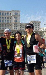 Alături de Ani, soția lui, și Emi, prietenul care l-a inspirat să alerge