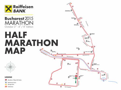 maratonul international bucuresti, harta semimaraton