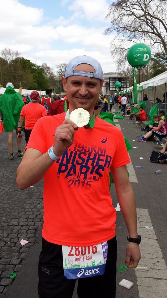 finish la Maratonul de la Paris foto arhiva personala