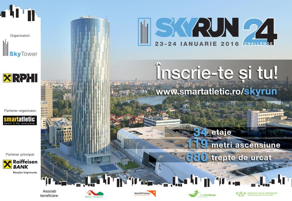 Mult așteptatul SkyRun, în ianuarie: 34 de etaje, 680 de trepte, 119 metri ascensiune