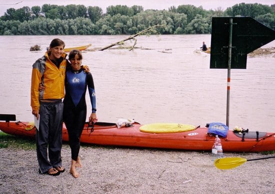 Mimi and her daughter, Kelsey, in one of the stops along the Danube expedition; photo credit www.kpbs.org