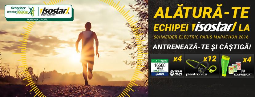 Isostar şi antrenamentele tale îţi aduc o înscriere gratuită la Paris Marathon şi alte premii!