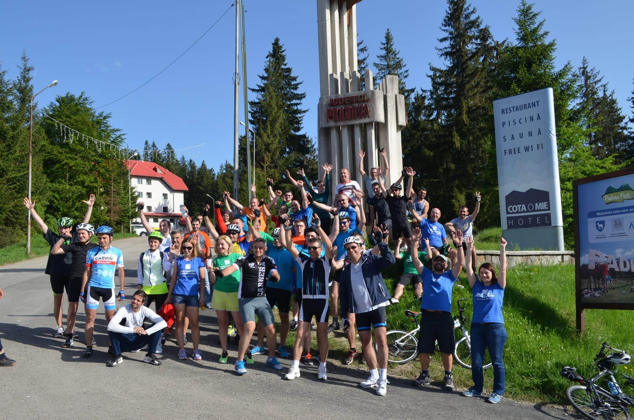 """""""Cu bicicleta la Sinaia"""", 260 de kilometri în două zile de pedalat"""