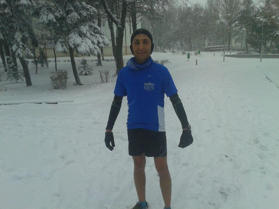 antrenament acasa, iarna, noiembrie, 2014 foto arhiva personala