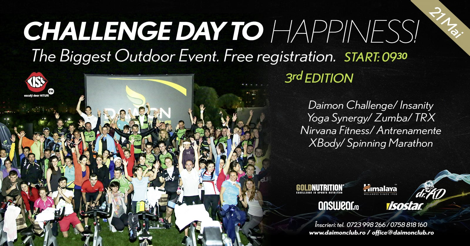 Challenge Day to Happiness – zi plină de sport la Daimon Wellness!