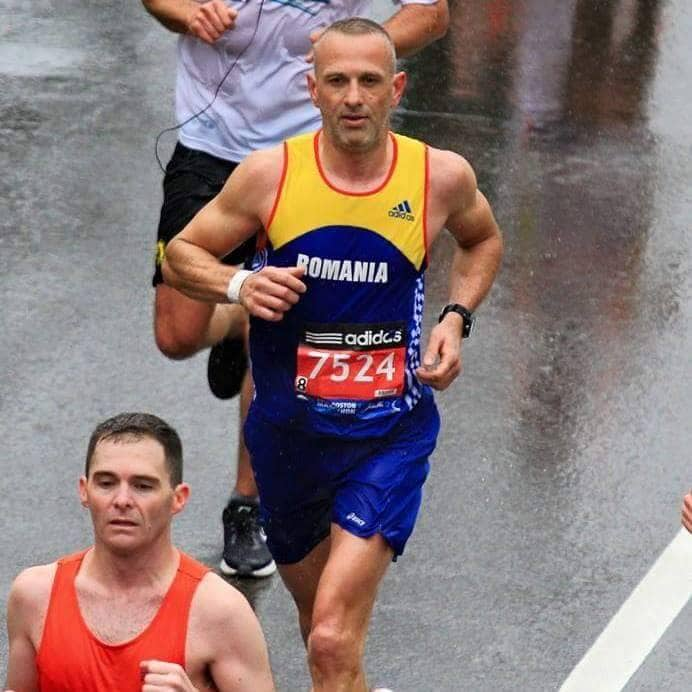 Stelian Larga, Boston Marathon, 2015