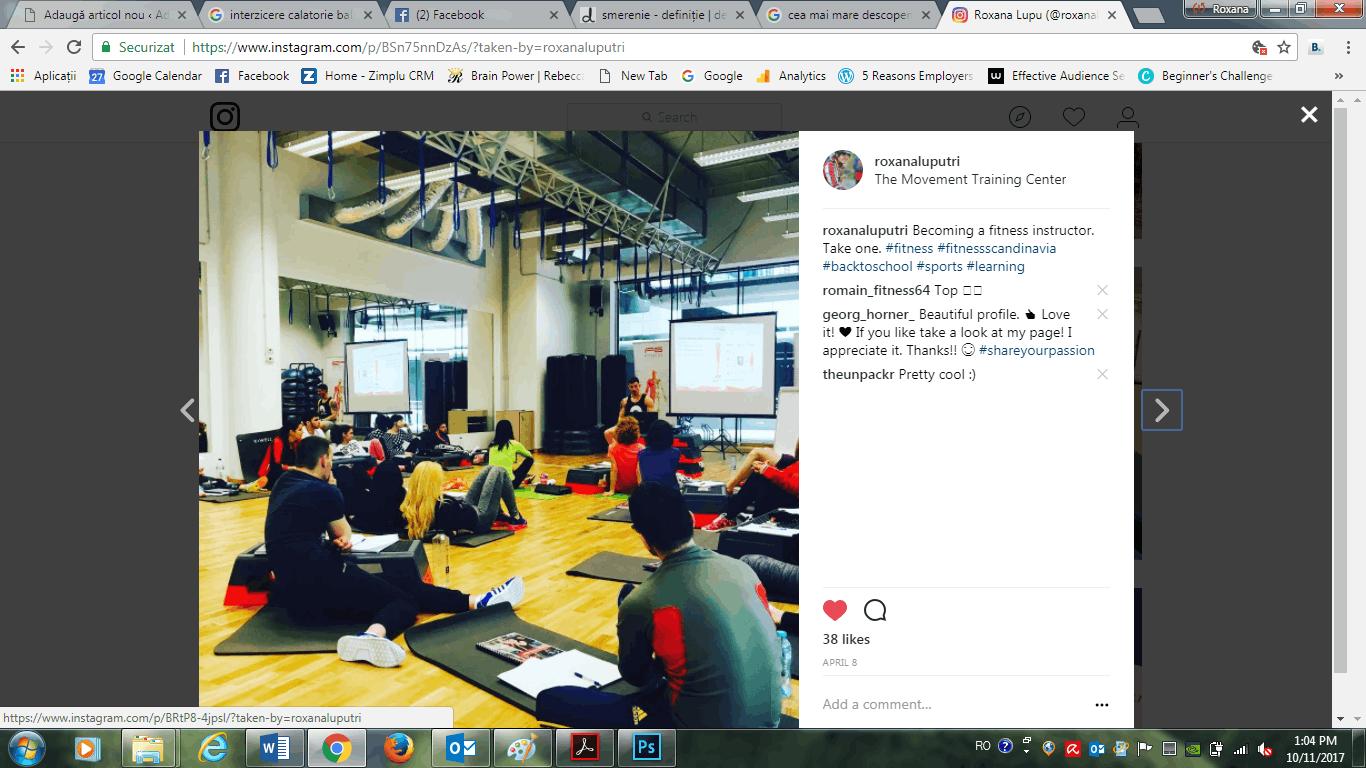 Sunt oficial instructor de fitness & antrenor personal. Și ce dacă?
